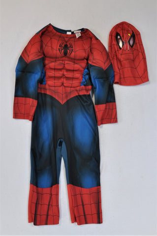George Spiderman Costume With Mask Dress Up Outfit Unisex 3-4 years