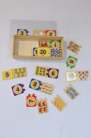 Melissa & Doug Self-Correcting 1- 20 Numbering Puzzle Unisex 2-6 years