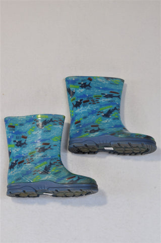 Ackermans Size 6 Blue Shark Rain Boots Boys 18 months to 3 years