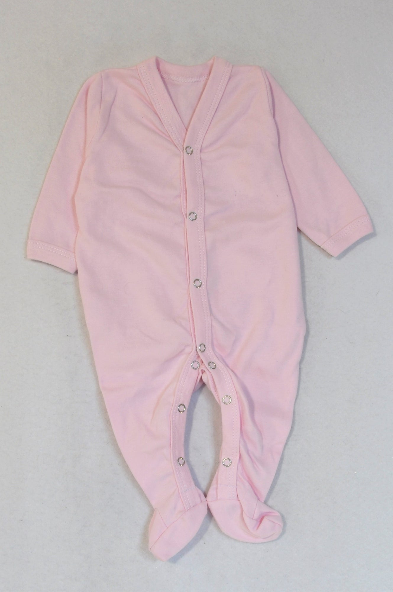 New Little Lumps Soft Pink Long Sleeve Onesie Girls 3-6 months