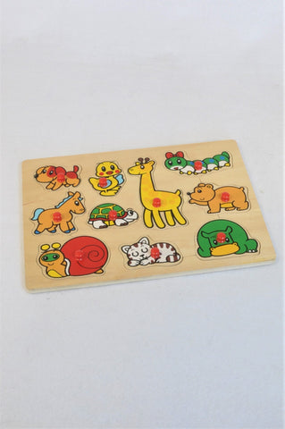 Unbranded Animal Peg Puzzle Unisex 6 months to 2 years