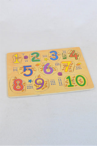 Unbranded Wooden Numbers Peg Puzzle Unisex 1-3 years