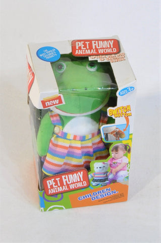 New Pet Funny Animal World Noise Making Frog Doll Girls 3-5 years