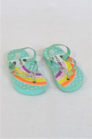Mr. Price Size 4 Blue Rainbow Shoes Girls 12-18 months