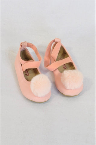 Mr. Price Size 5 Pink Pom Pom Shoes Girls 18-24 months