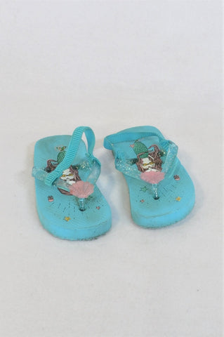 Unbranded Size 5 Blue Mermaid Shoes Girls 18-24 months
