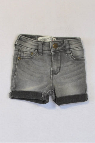 1996 Denim Co. Acid Wash Black Shorts Girls 1-2 years