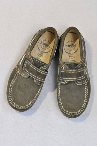 Primigi Size 5 Brown Loafer & Navy Trim Velcro Shoes Boys 8+ years