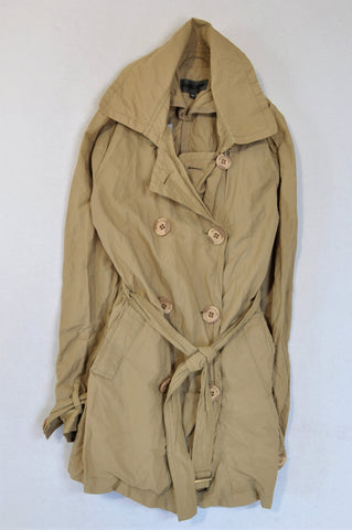 Moscow Beige Tie Trench Coat Girls 9-10 years