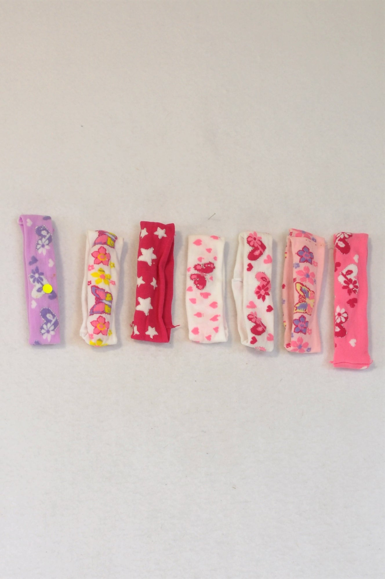Unbranded Set Of 7 Colourful Headband Girls 3-6 months