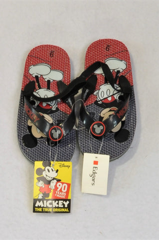 New Disney Size 9 Mickey Mouse Flip Flops Boys 3-4 years