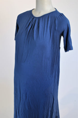 Cherrymelon Blue Pleated Maternity Dress Size S