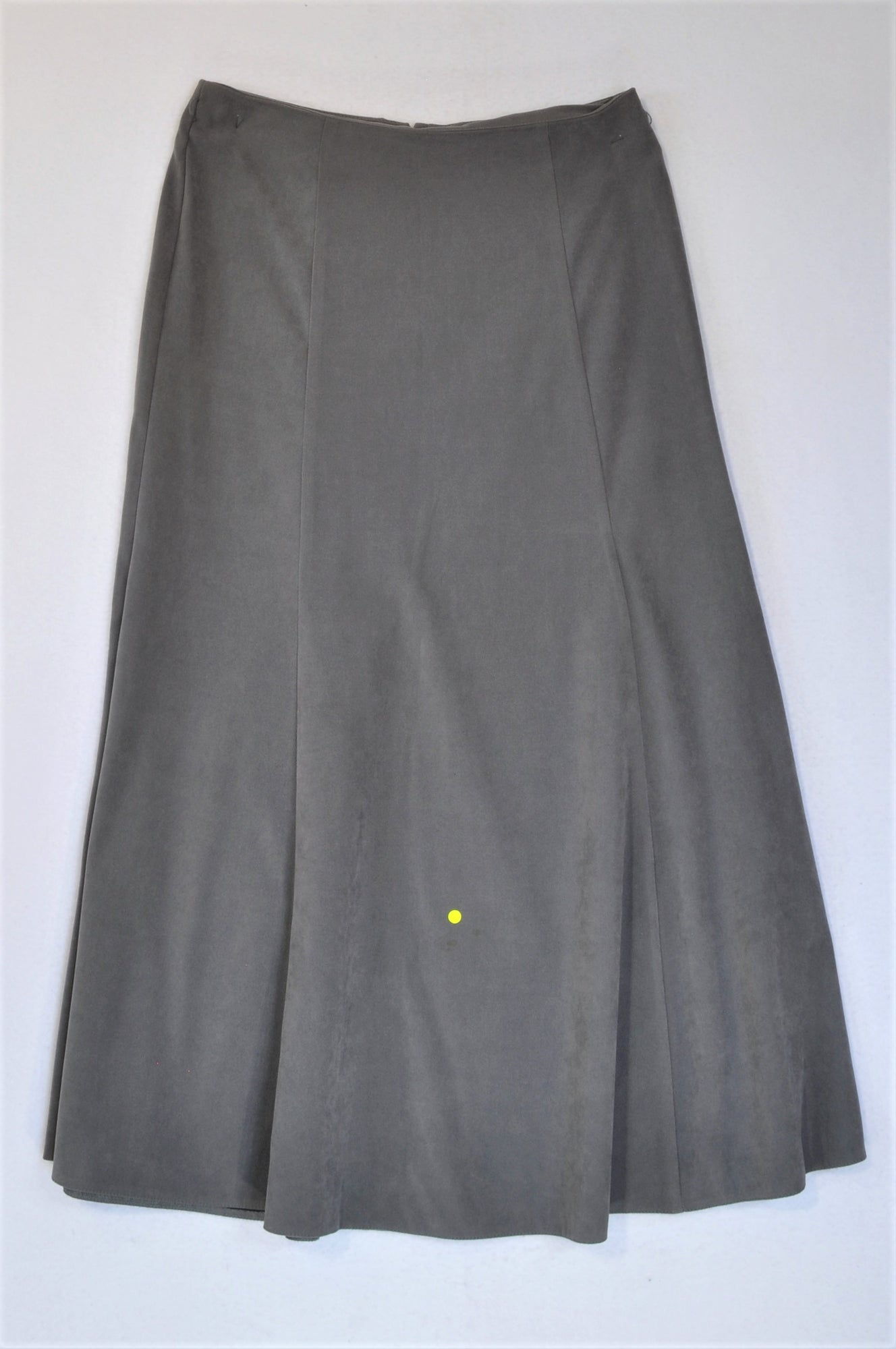 Oasis Grey Midi Skirt Women Size 8