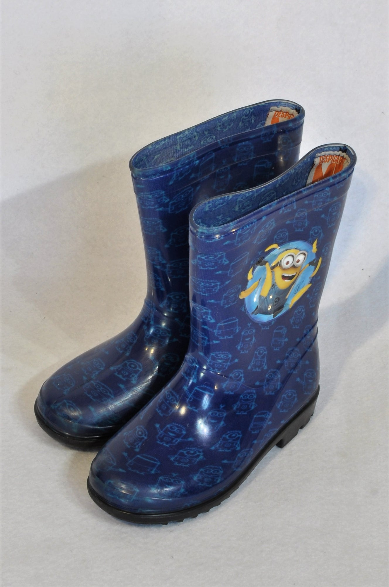 Despicable Me Size 10 Blue Minions Rain Boots Boys 3-5 years