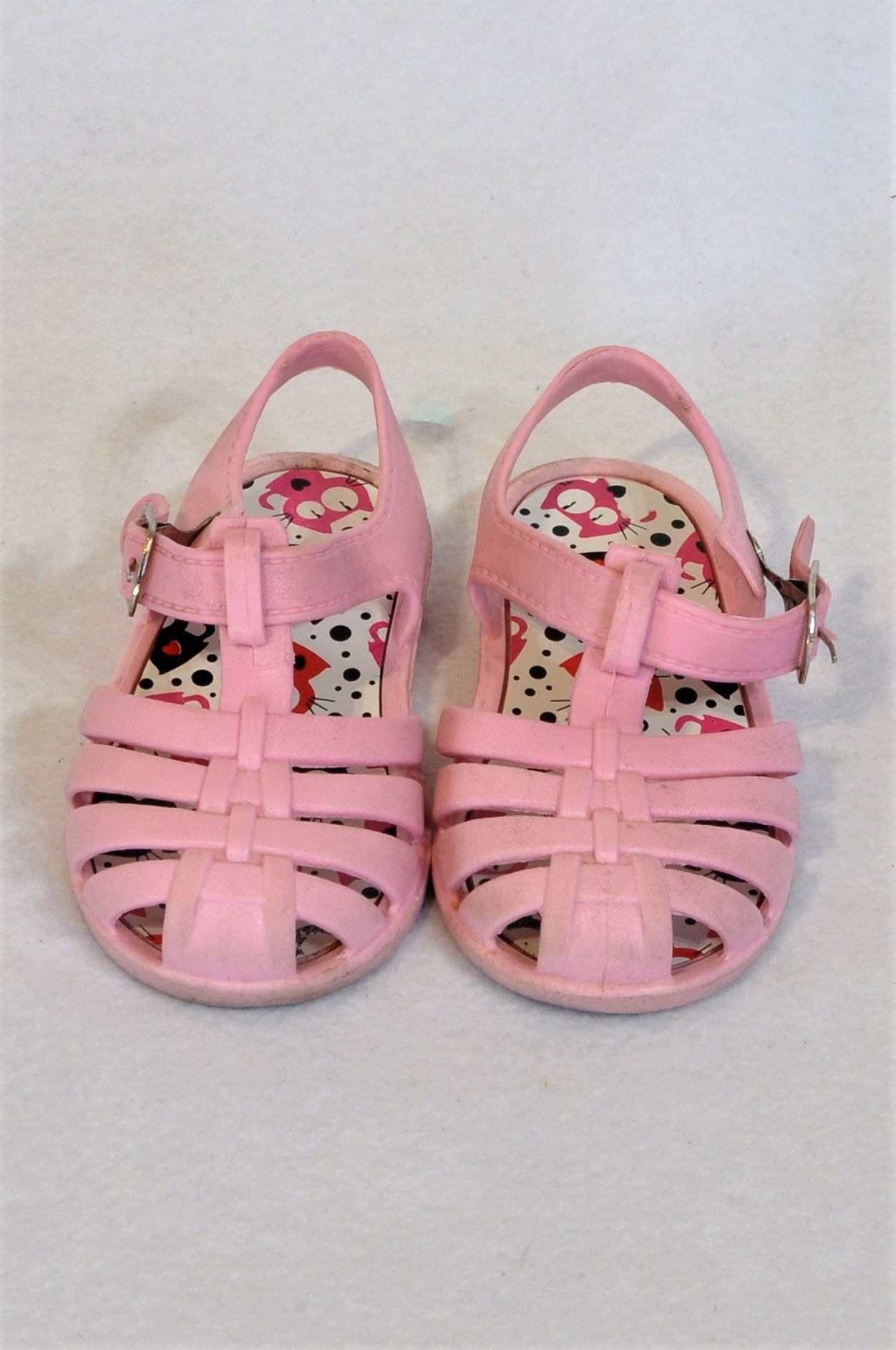 Unbranded Size 8 Pink Cat Sandals Girls 2-3 years