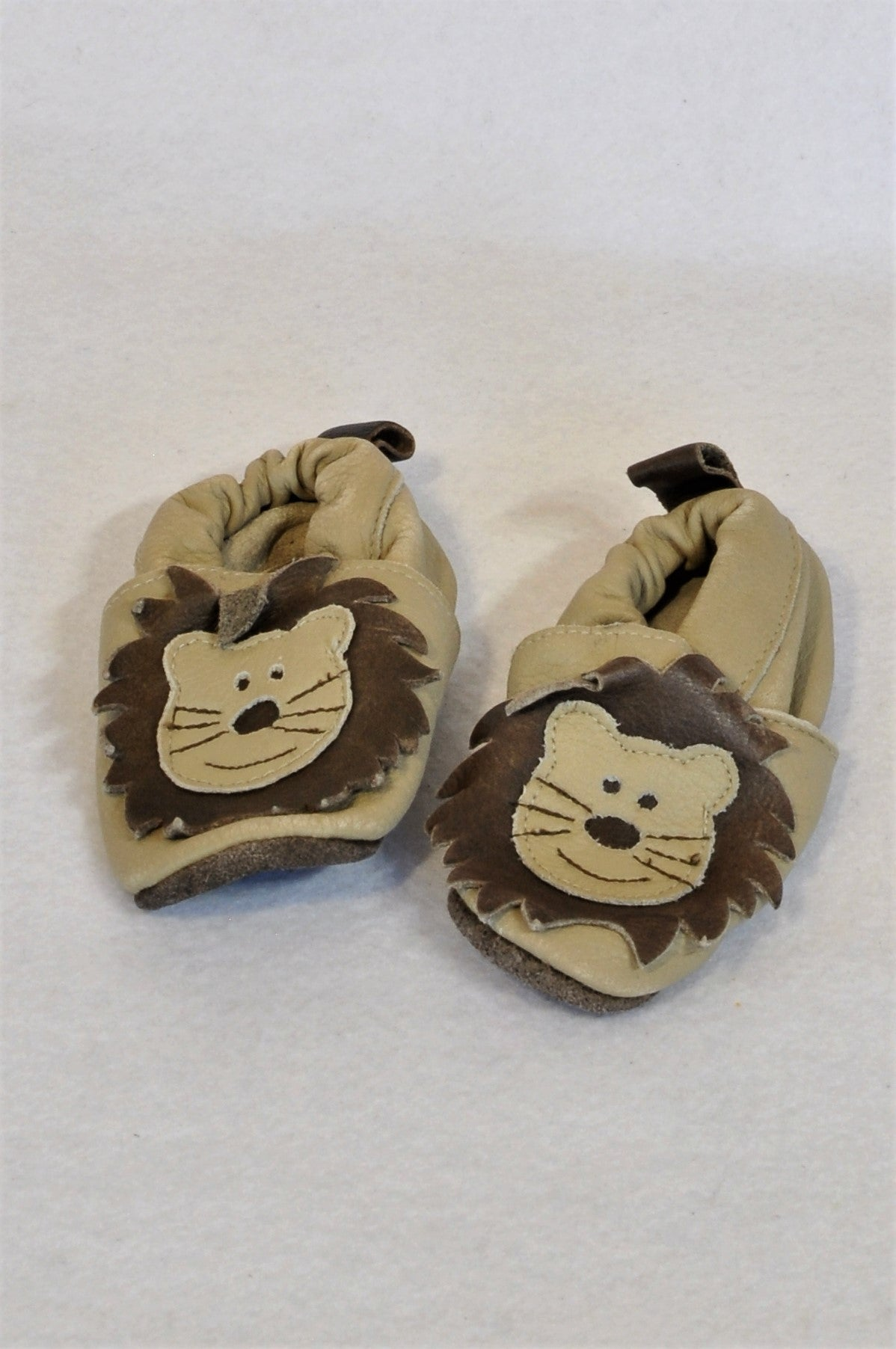 Shooshoos Size 2 Leather Lion Shoes Unisex 6-9 months