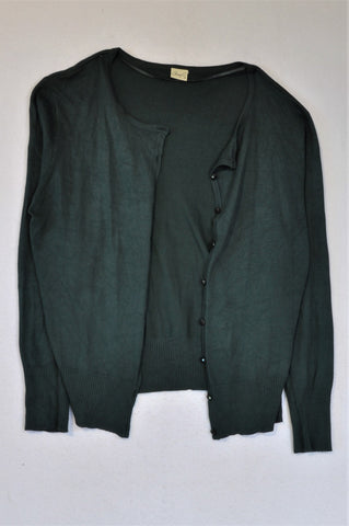 Penny C Forest Green Cardigan Women Size 16