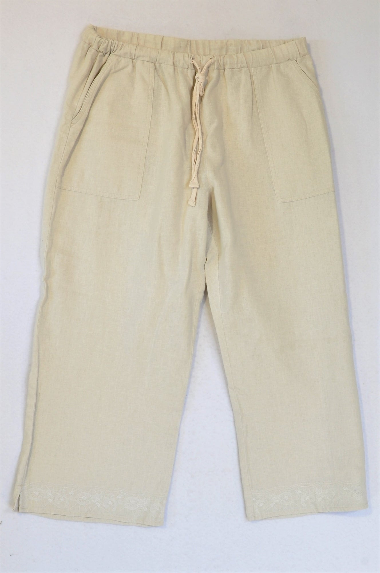 Unbranded Cream Pants Women Size 8