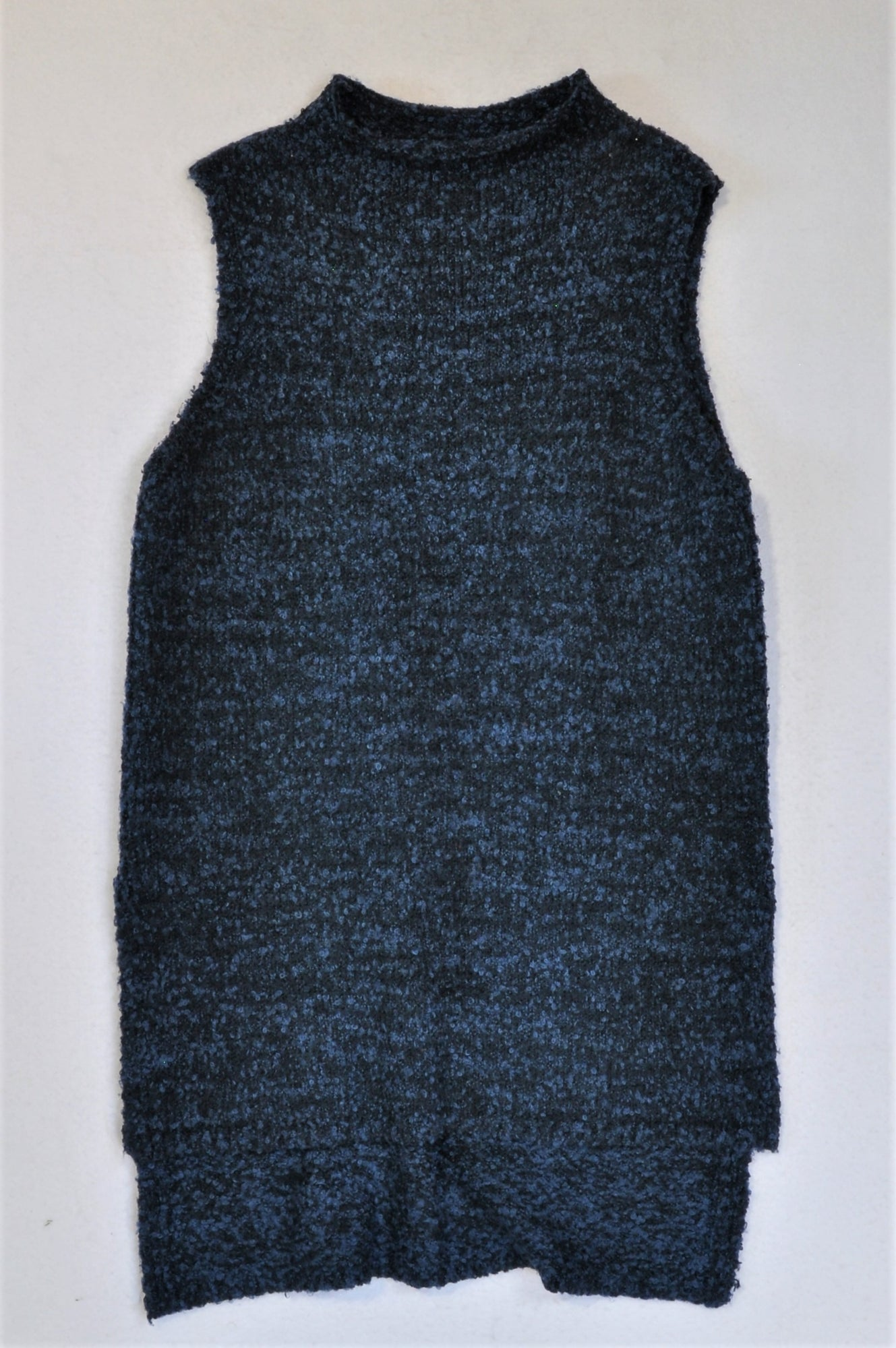 Woolworths Blue Knit Top Women Size M