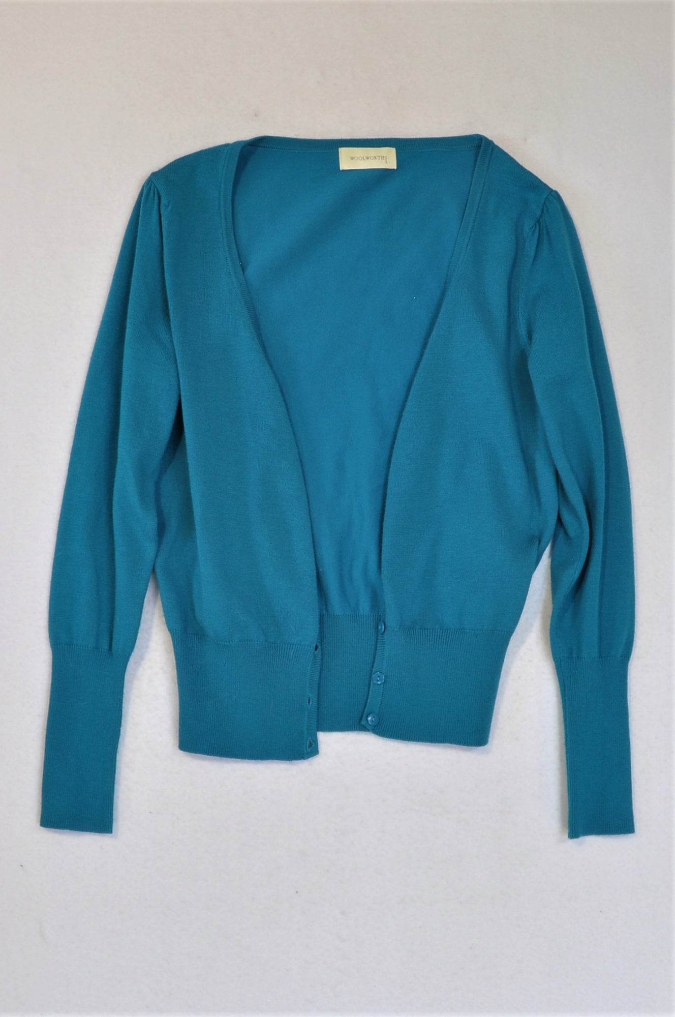 Woolworths Turquoise Cardigan Women Size S