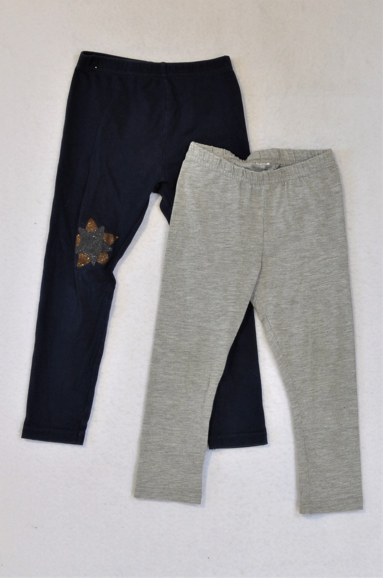 Cotton On Set Of 2 Grey And Navy Leggings Girls 2-3 years