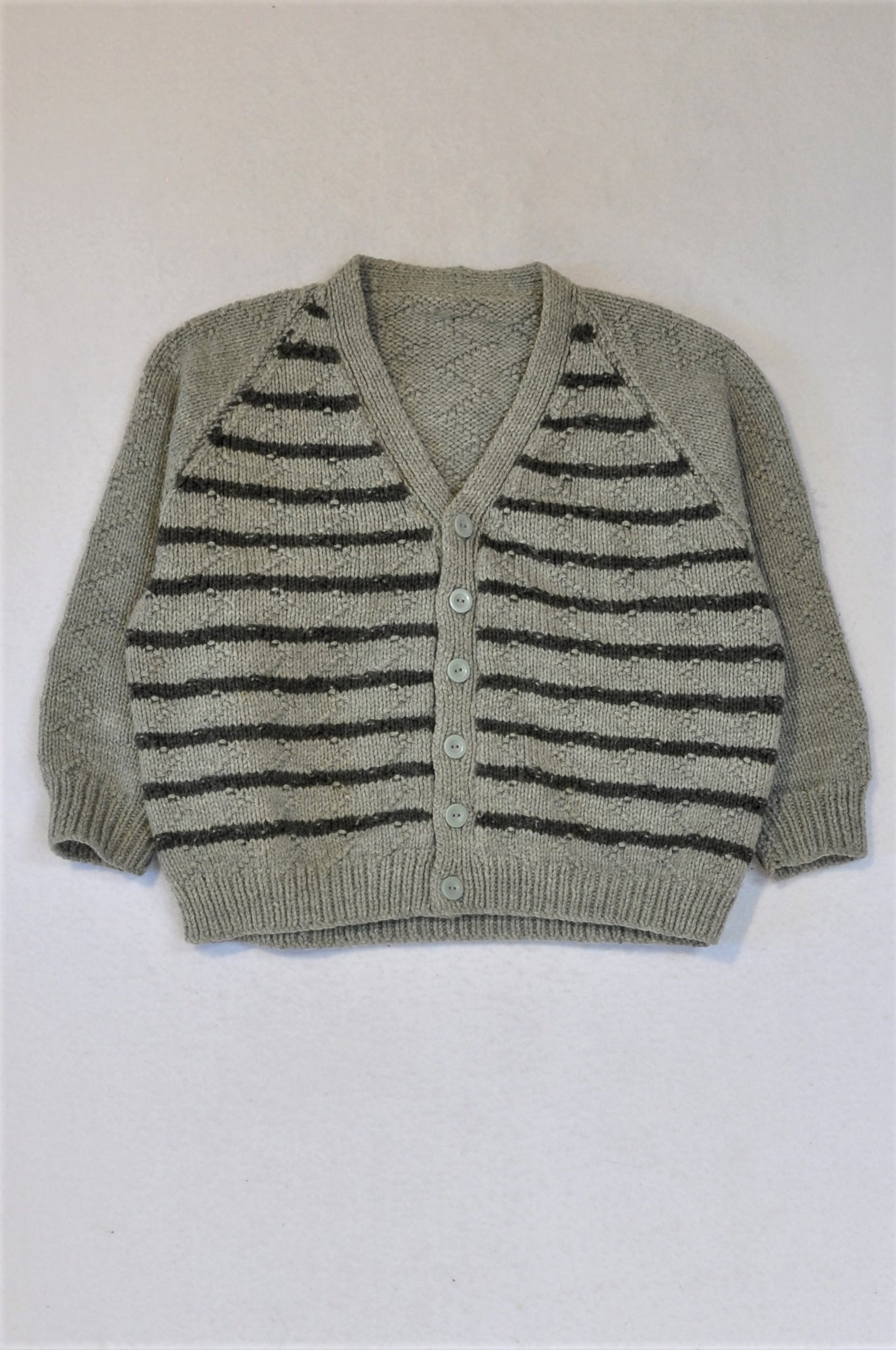 Unbranded Grey Knit Cardigan Jersey Boys 7-8 years