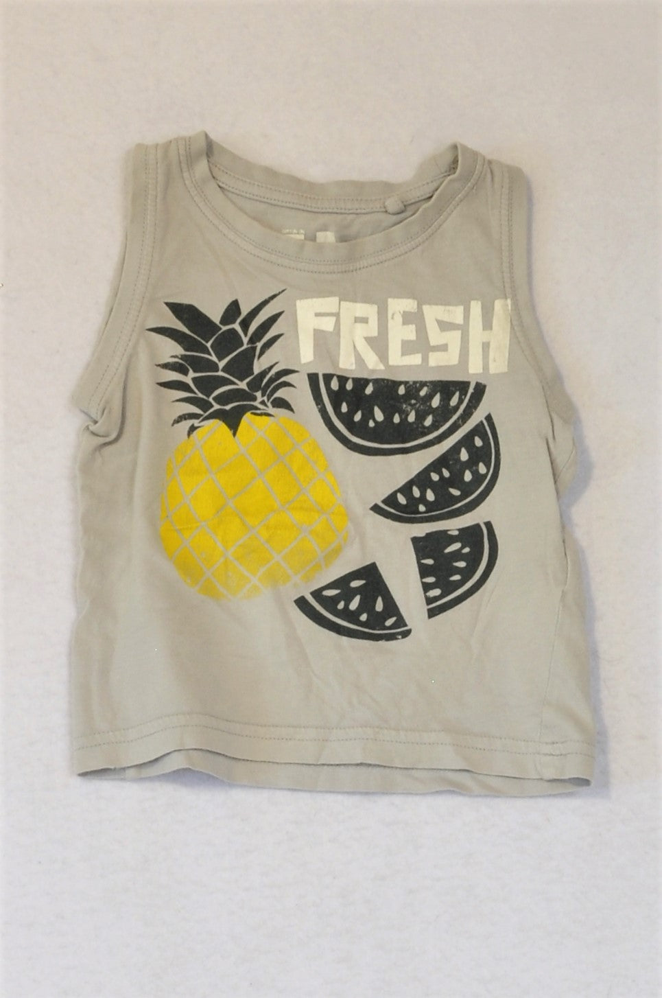 Cotton On Grey Pineapple Tank Top Boys 9-12 months
