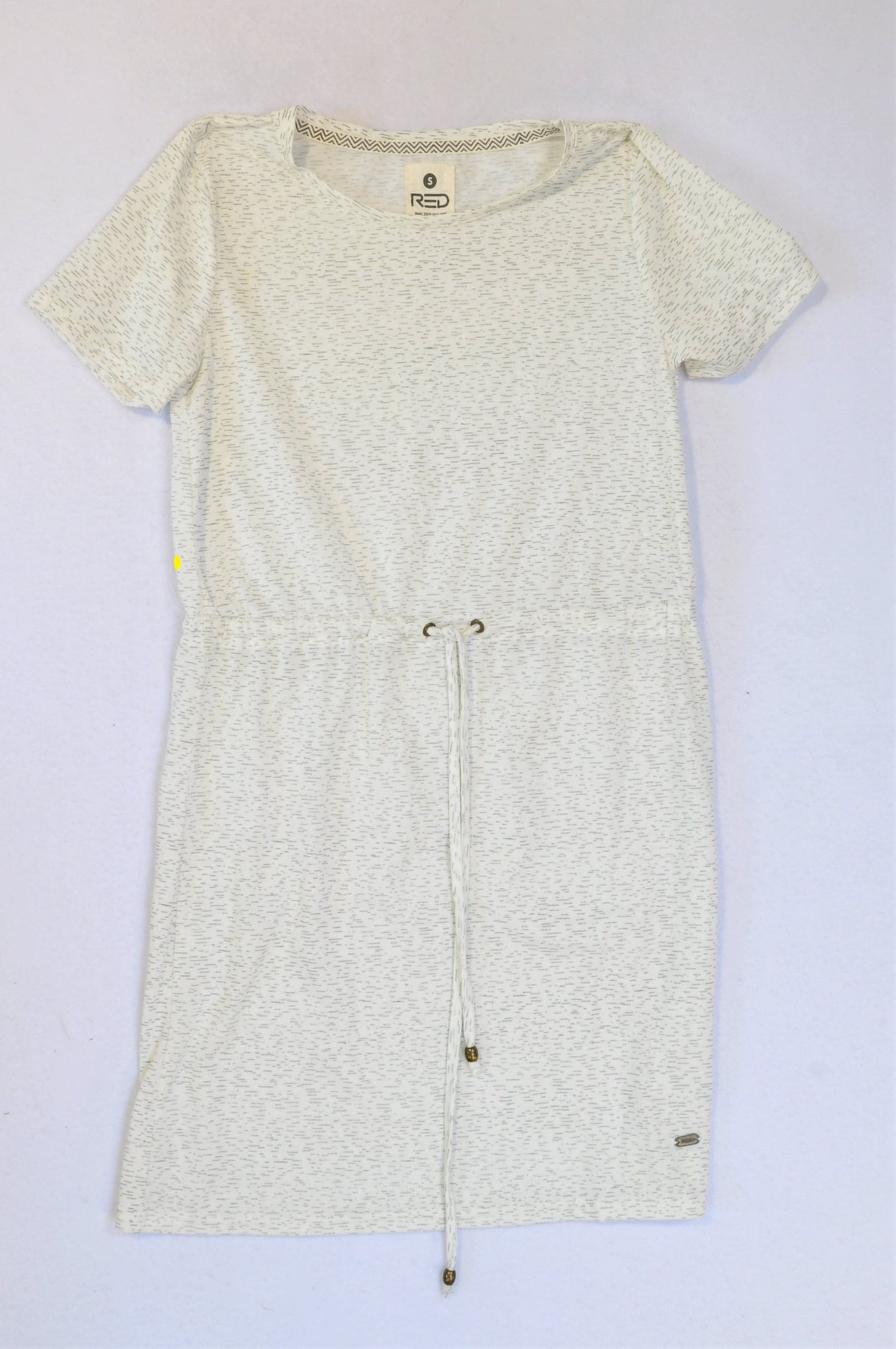 Mr. Price White Heathered Pattern Dress Women Size S