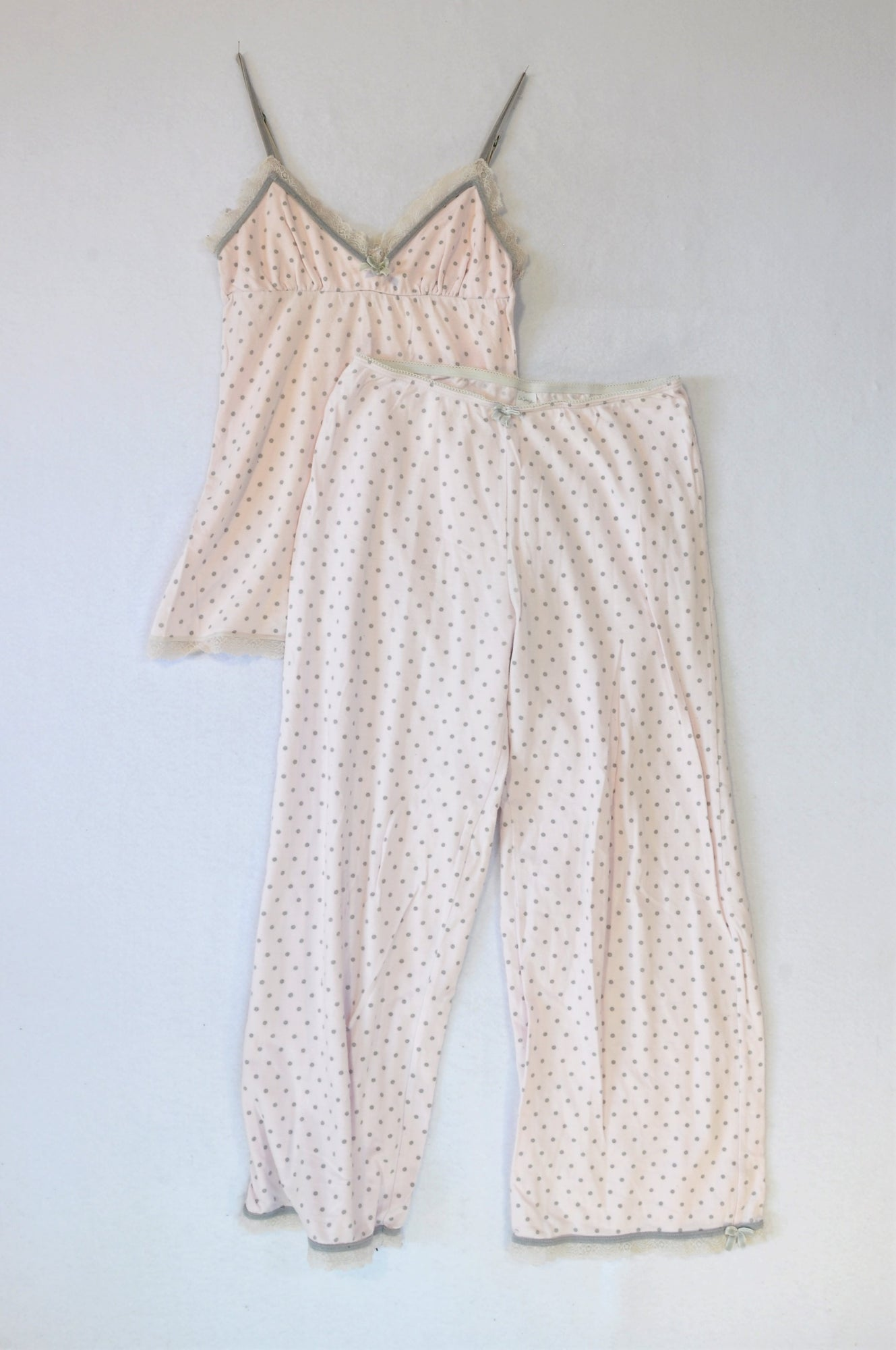 La Senza Pink Polka Dot Top And Pants Pyjamas Women Size XS
