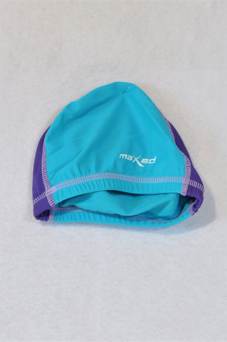 Maxed Blue And Purple Swim Cap Unisex 12-18 months