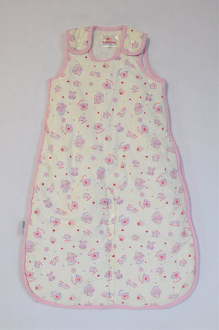 DizzyDots Pink & White Lined Corduroy Tea Party Sleep Sack Girls 0-6 months