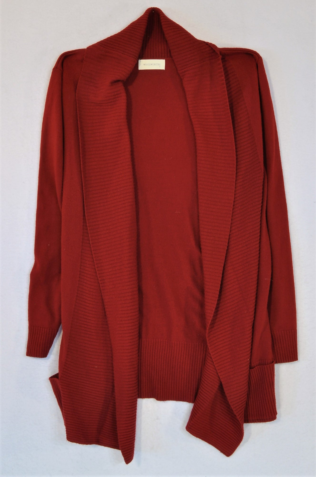 Woolworths Maroon Cardigan Women Size S