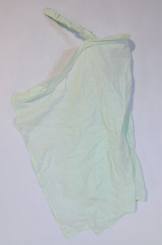 Unbranded Mint Green Elastic Strap Canvas Apron Nursing Cover Unisex N-B to 2 years