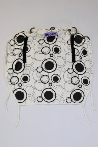 The Original Dooky Black & White Circle Carrier Cover Unisex N-B to 18 months