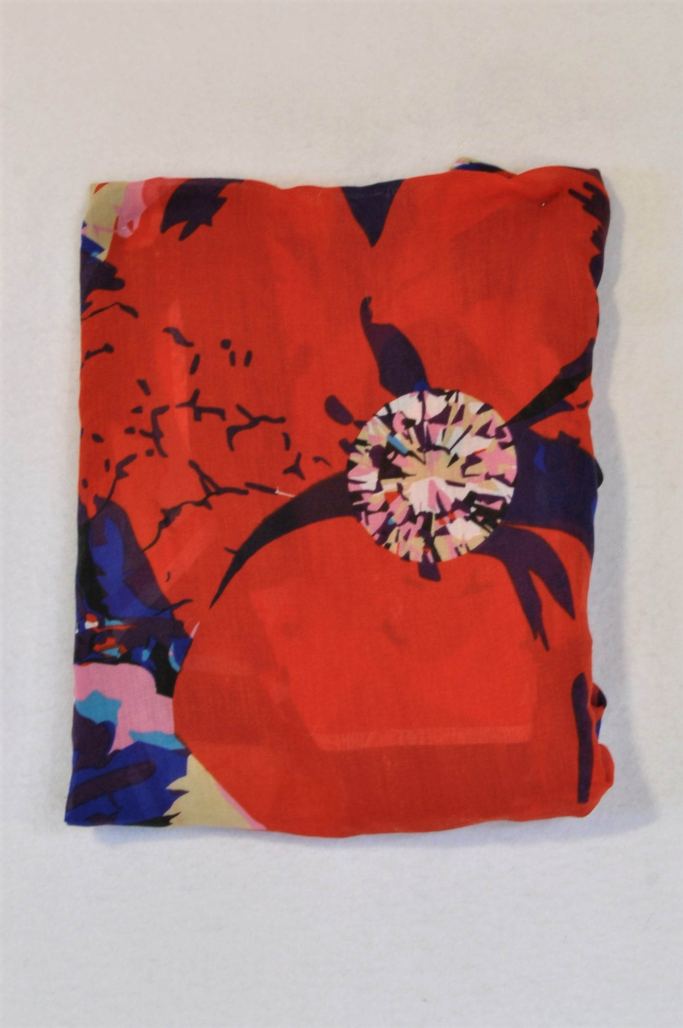 Woolworths Red Flower Scarf Women Size M