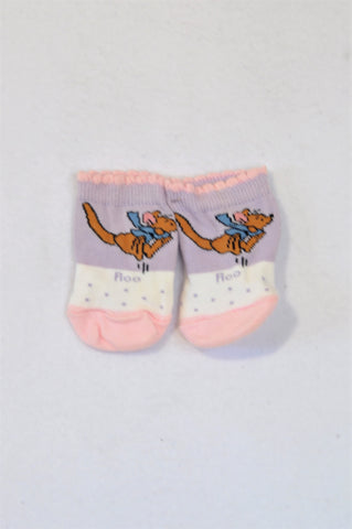 New Disney Purple & Pink Roo Socks Girls 0-3 months