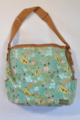 Momi Aqua Floral Birdy Nappy Bag Unisex 3 months to 1 year