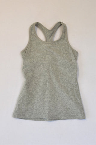Woolworths Grey Heathered Tank Top Girls 7-8 years