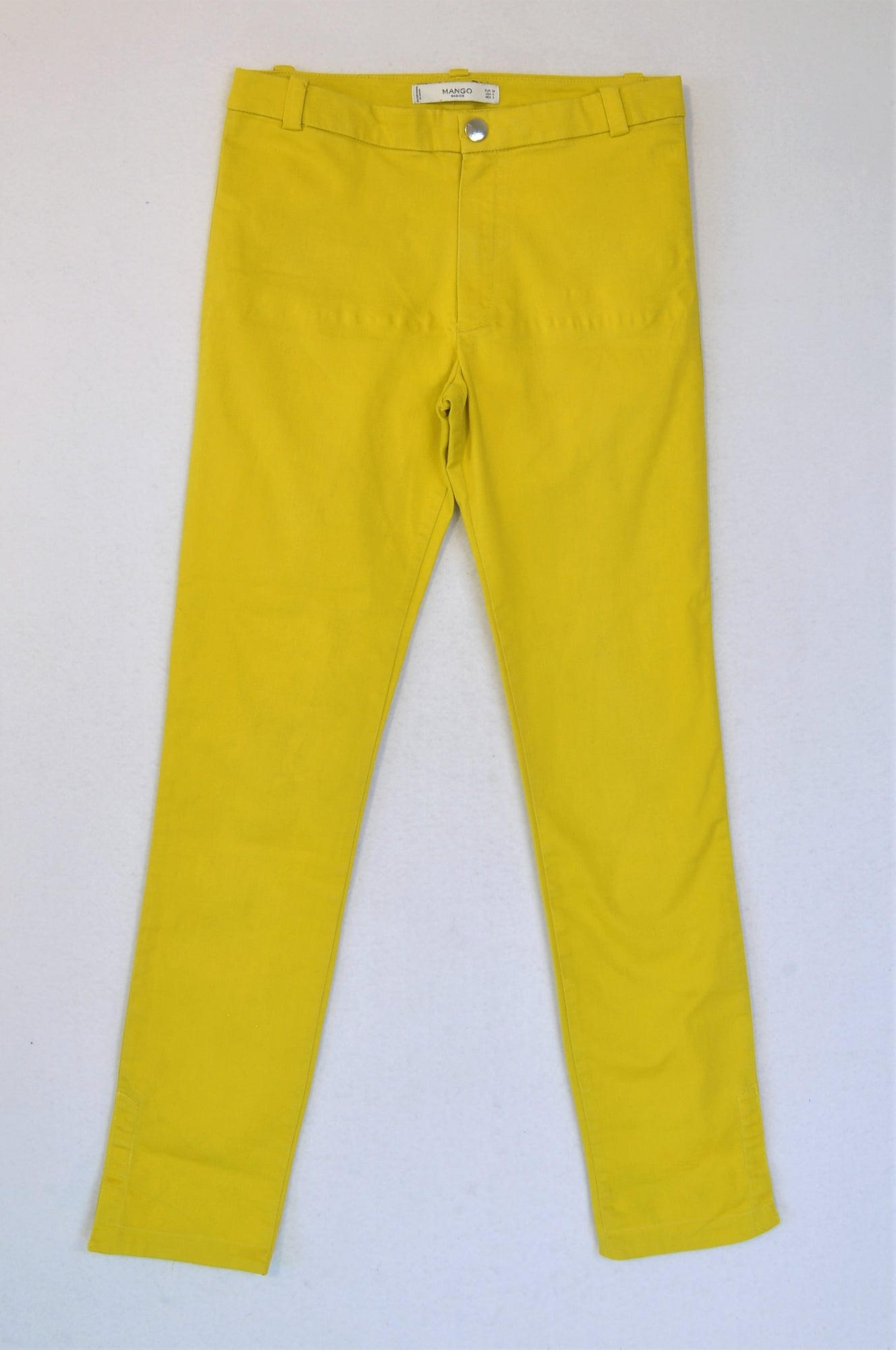 Mango Mustard Yellow Pants Women Size 8