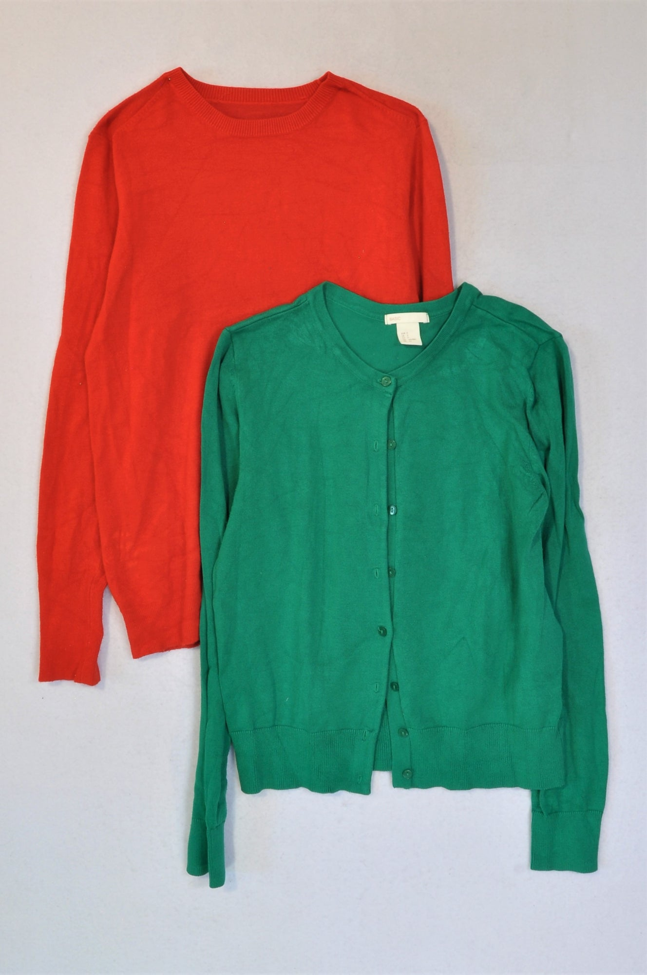 H&M Set Of 2 Red And Green Jersey Women Size 8