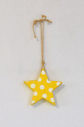 Unbranded Hand Painted Yellow & White Star Decor Unisex All Ages