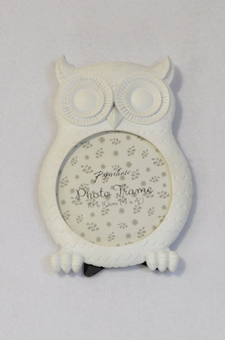 New Paperchase White Owl Round Picture Frame Girls All Ages