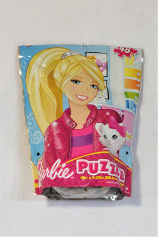 Barbie 48 Piece Pink Glitter Cat Puzzle Girls 3-7 years
