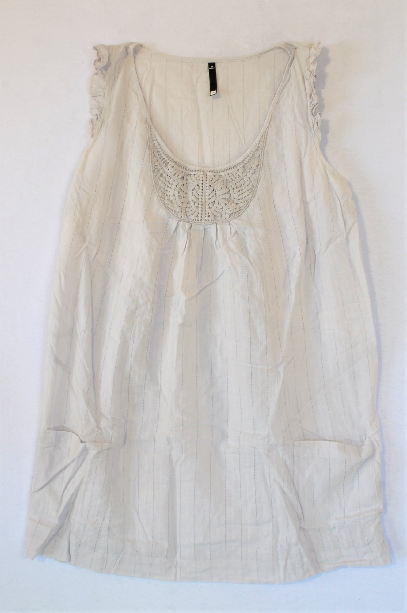 Woolworths Light Grey Dress Women Size M