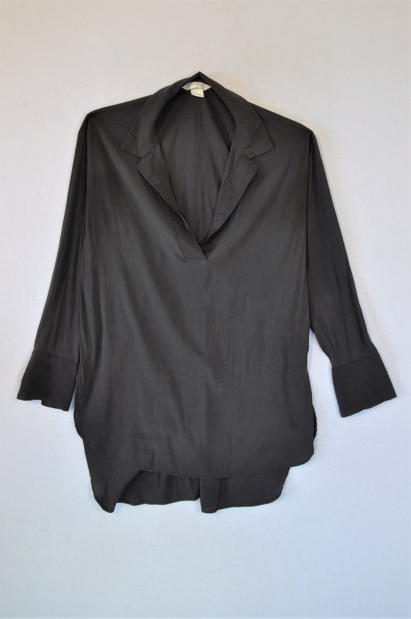 H&M Charcoal Blouse Women Size 8