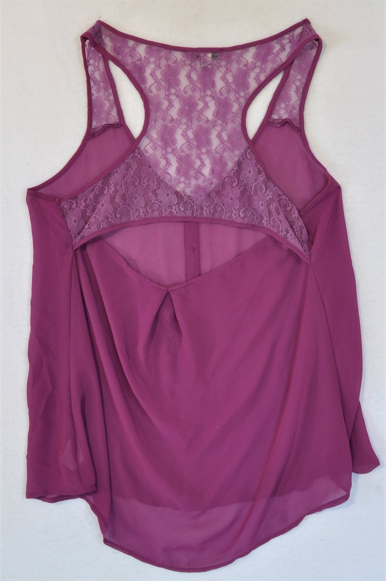 Cotton On Purple Sheer Blouse Women Size M