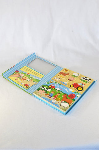 Learning Wood On The Farm Book And 8 Piece Puzzle Unisex 2-6 years