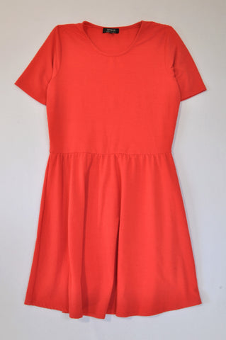 Cotton On Coral Dotty Embossed Dress Women Size L