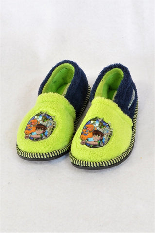 Cartoon Network Size 6/7 Green Ben 10 Slippers Boys 2-3 years