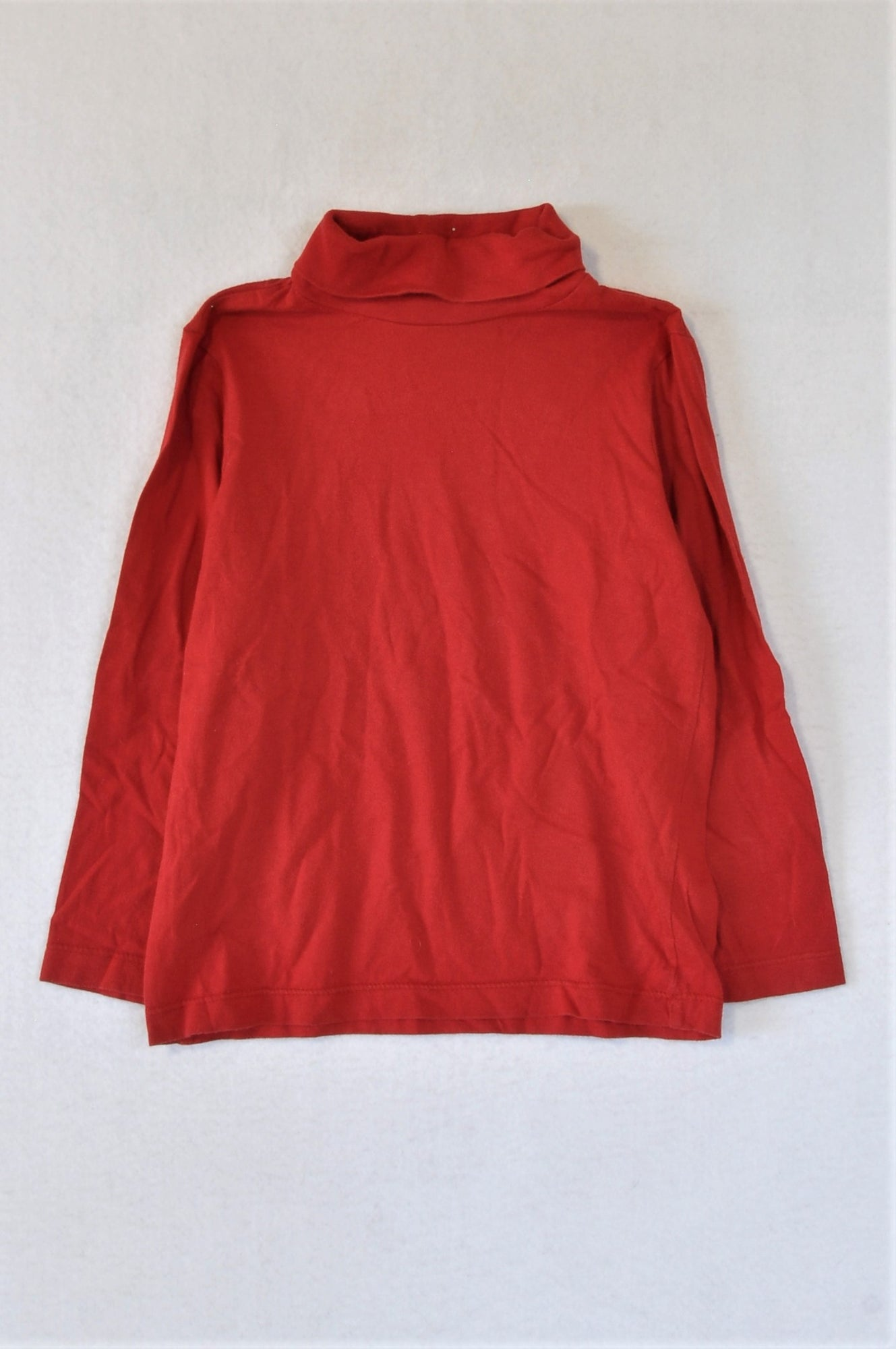 Woolworths Red Polo Neck Long Sleeve T-shirt Girls 4-5 years